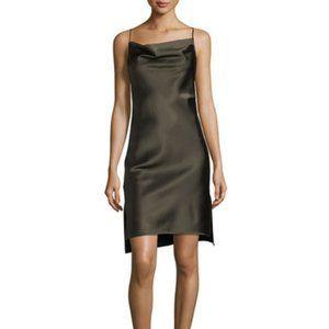 NWT Halston Heritage Cowl Neck Satin Slip Dress